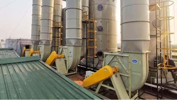 重庆景裕电子订购四台磐力玻璃钢防腐风机