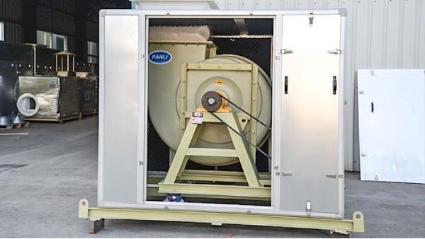 玻璃钢离心风机噪声采用内吸隔音的方法