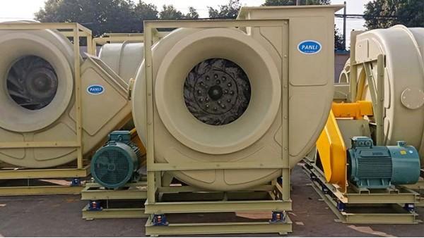 玻璃钢防腐风机叶轮前盘类型和气体流动轨迹