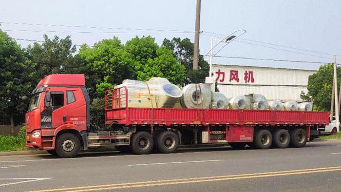 风机厂家:磐力风机八台联轴玻璃钢高压风机发往江苏盐城项目