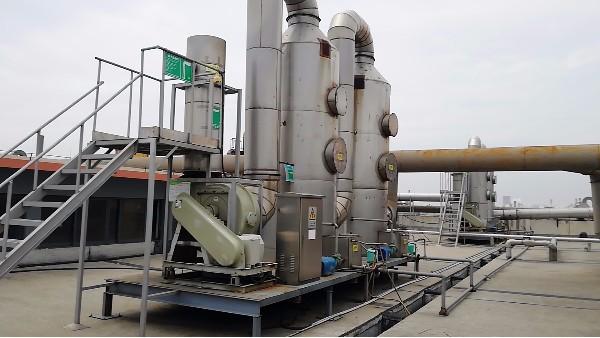 绍兴印染公司使用玻璃钢离心风机处理油雾废气